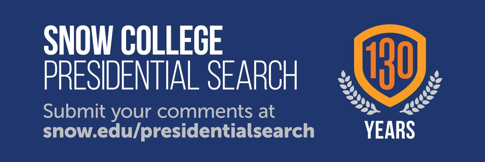 Submit your comments to the Presidential Search committee