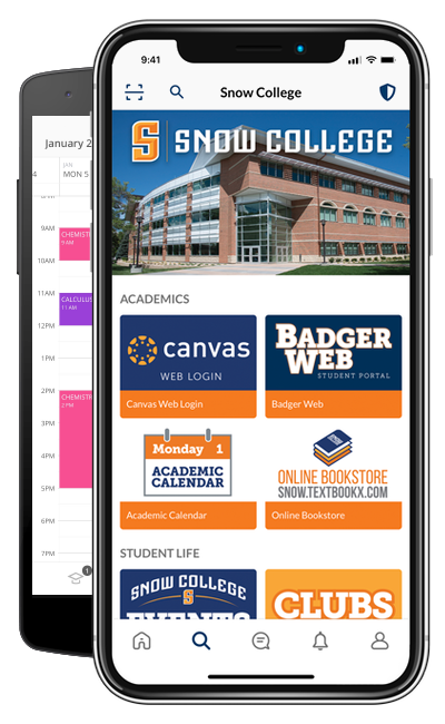 Snow College app on phones