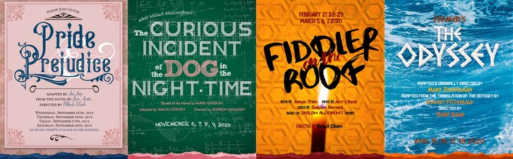 Shows included in Season Tickets: Pride and Prejudice, The Curious Incident of the Dog in the Night-Time, Fiddler on the Roof, The Odyssey