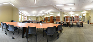 Huntsman Library second floor panoramic