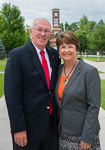 President Gary Carlston and wife Janet
