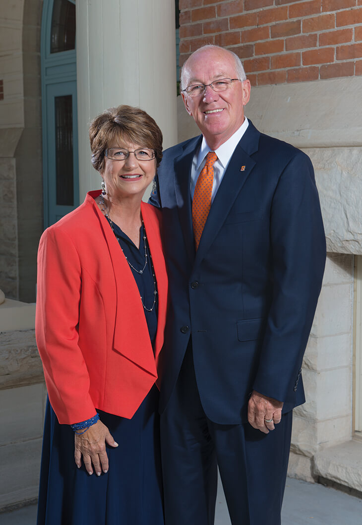 President Gary and Janet Carlston