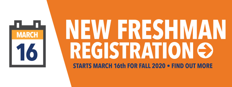 Fall registration for New Students